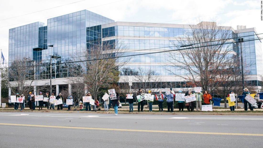This protest occurred on November 14, and many of the participants expected to return on Monday, December 14, the third anniversary of  the killing of 28 in Newtown, Connecticut.  The group is calling for closing the loopholes on universal background checks.