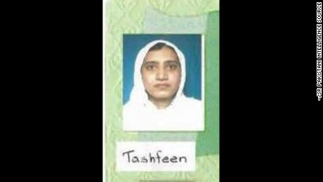 A photocopy of Tashfeen Malik's Pakistani national identification card.