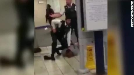 london stabbings underground tube station sot black_00004025.jpg