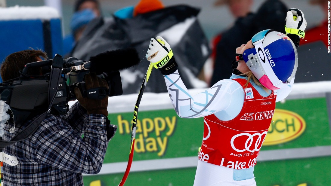 On Saturday, Vonn had beaten the field by a full second to record victory number two of the week.