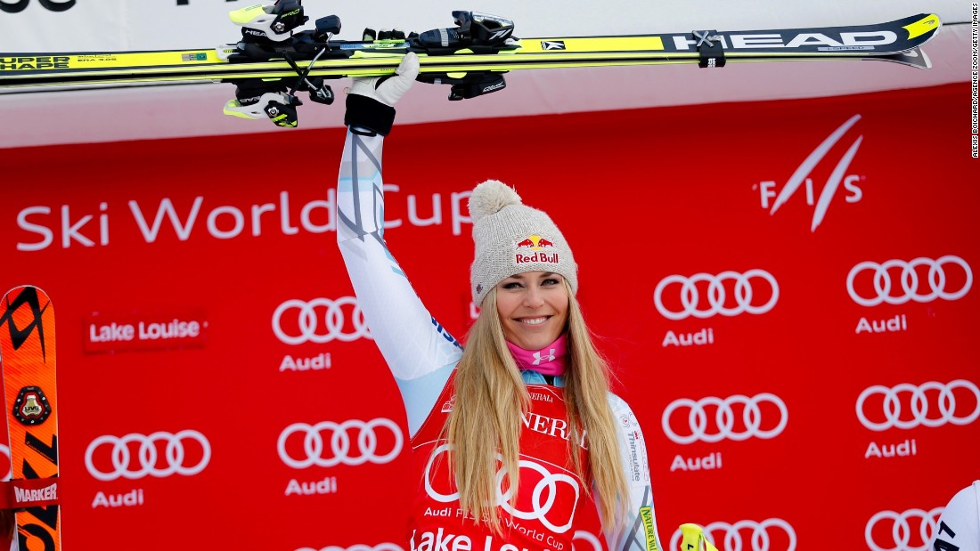The three victories hand Vonn a narrow four-point lead over Mikaela Shiffrin in the overall World Cup season standings.