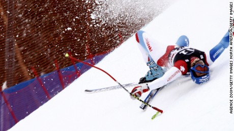 Airbag protects skiers in high-speed crashes