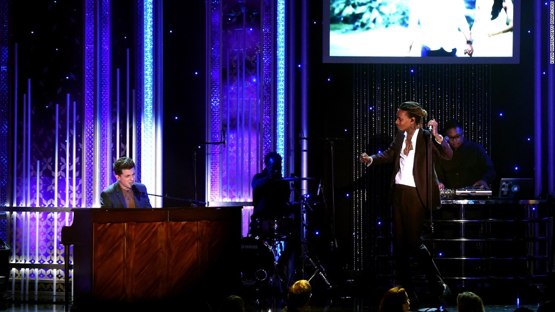 """See You Again"" by Wiz Khalifa featuring Charlie Puth, left, is in the running for best pop duo/group performance. The pair are competing against ""Ship to Wreck"" by Florence + the Machine, ""Sugar"" by Maroon 5, ""Uptown Funk"" by Mark Ronson featuring Bruno Mars and ""Bad Blood"" by Taylor Swift featuring Kendrick Lamar.<br />"