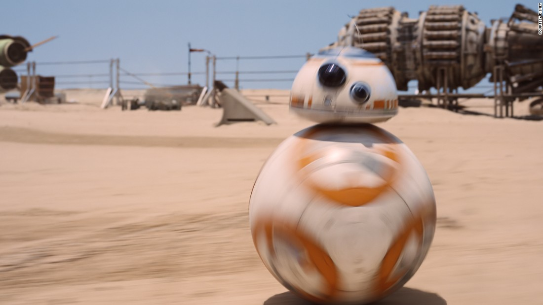 "BB-8, the plucky astromech featured in ""Star Wars Episode VII: The Force Awakens,"" is the brainchild of designers Matt Denton and Joshua Lee, who eschewed CGI and created a tactile version of the droid for use on set."