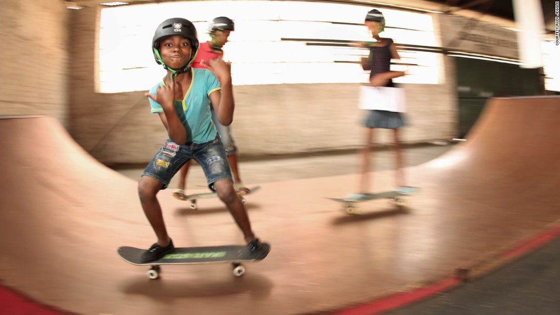 "The charity recently began building a skate park in Johannesburg, South Africa. ""We've got great teachers and youth leaders for students to look up to,"" says Skatiestan's director Oliver Perkovitch. ""Skateboarding itself teaches important life skills, like creativity and problem solving and about never giving up."""