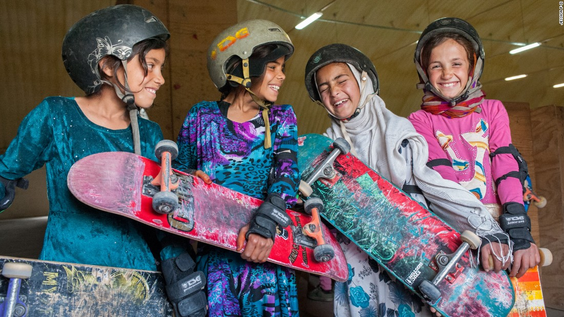 "Skateistan focuses on Afghan girls, giving them skateboarding training and an education program. ""Under Sharia law (the Islamic legal system), girls aren't allowed to ride bikes or do much at all,"" says Gregor. ""But through a loophole, they're allowed to skateboard because it's seen as a toy."""