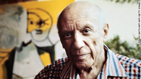 "This file pictured dated 13 October 1971 shows Spanish painter Pablo Picasso in Mougins, France. The town of Guernica will commemorate next 26 April 2007 the 70th anniversary of the 1937 bombing by planes of the German Luftwaffe ""Condor Legion"" and subordinate Italian Fascists from the Corpo Truppe Volontarie expeditionary force during the Spanish Civil War which resulted in widespread destruction and civilian death.    AFP PHOTO/RALPH GATTI (Photo credit should read RALPH GATTI/AFP/Getty Images)"