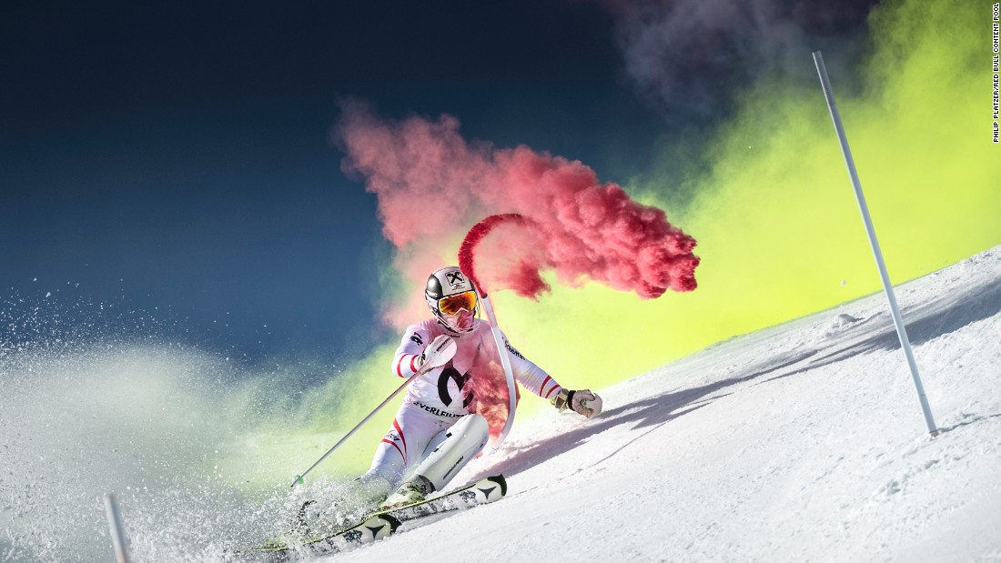Hirscher also chases thrills off the slopes -- in his downtime the adrenalin junky takes on everything from tight-rope walking to dirt-bike racing.