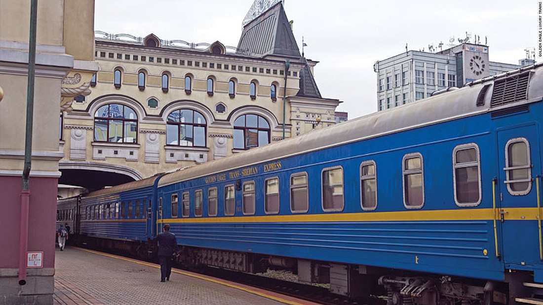 Russia's Golden Eagle is a luxury version of the famed Trans-Siberian Express. The two-week passage, which travels from Moscow to Vladivostok, feels more like a cruise than a train ride as it stops for daily excursions along the way.