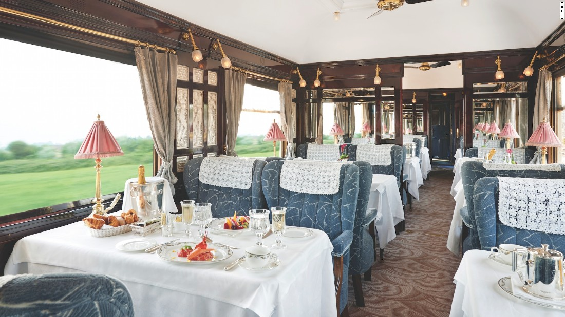 The Venice Simplon-Orient-Express menu features fresh ingredients taken on board at stops along the route. This can include lobsters from Brittany, tomatoes from Provence or saltmarsh lamb from Mont St Michel.