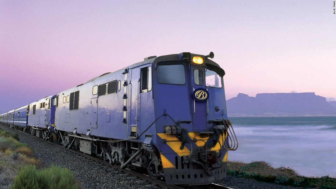 The Blue Train's 27-hour, 1,600 kilometer round trip Pretoria-Cape Town journey crosses South Africa diagonally, stopping at the diamond mines of Kimberley on the way south and at the colonial outpost of Matjiesfontein on the way north.
