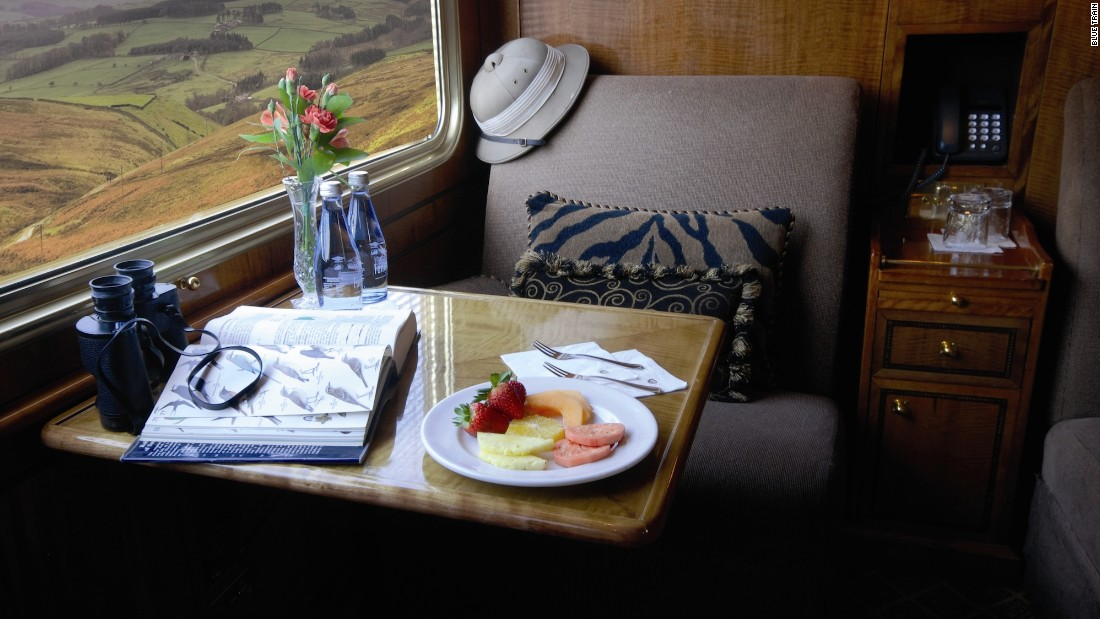 The Blue Train offers two styles of suites -- Deluxe and Luxury.