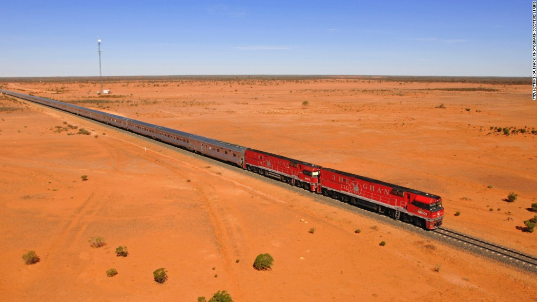 The Ghan is a three-night, 2,979-kilometer tour from Darwin to Adelaide (or vice versa) that cuts through the middle of Australia, rolling through some of the most unforgiving wilds on the planet. The Platinum service offers more cabin space, chauffeured transfers, access to an exclusive dining carriage, breakfast in bed and five-course meals.