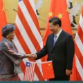 liberia china handshake