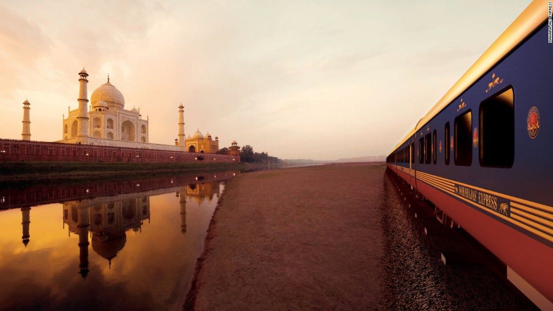 India's Maharajas' Express first hit the tracks in 2010. The week-long Delhi to Mumbai journey takes in plenty of national highlights, including the Taj Mahal, the Ajanta Caves, Jodhpur and the Amber Fort.