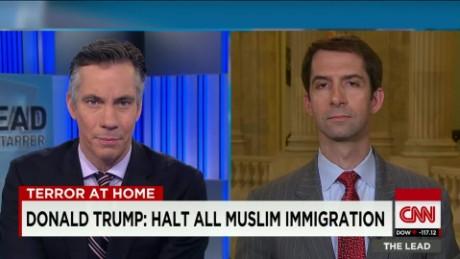donald trump halt muslim immigration tom cotton lead intv_00002729