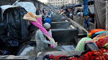 At Dhobi Ghat, washing is powered by sweat and sinew.