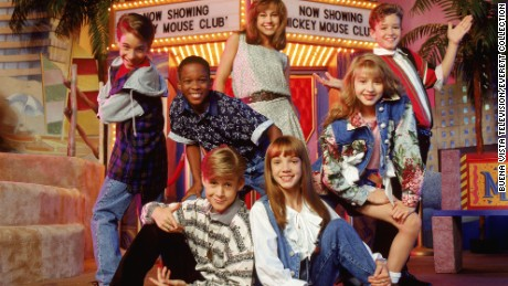 "Marque Lynche, second from left, was part of the ""Mickey Mouse Club"" in the mid-'90s, along with (clockwise from top) Nikki DeLoach, Justin Timberlake, Christina Aguilera, Britney Spears, Ryan Gosling and T.J. Fantini."