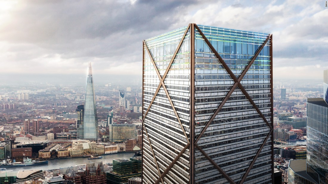 1 Undershaft will be the City of London's new tallest tower. Developers say it will be 1,016 feet high when built.
