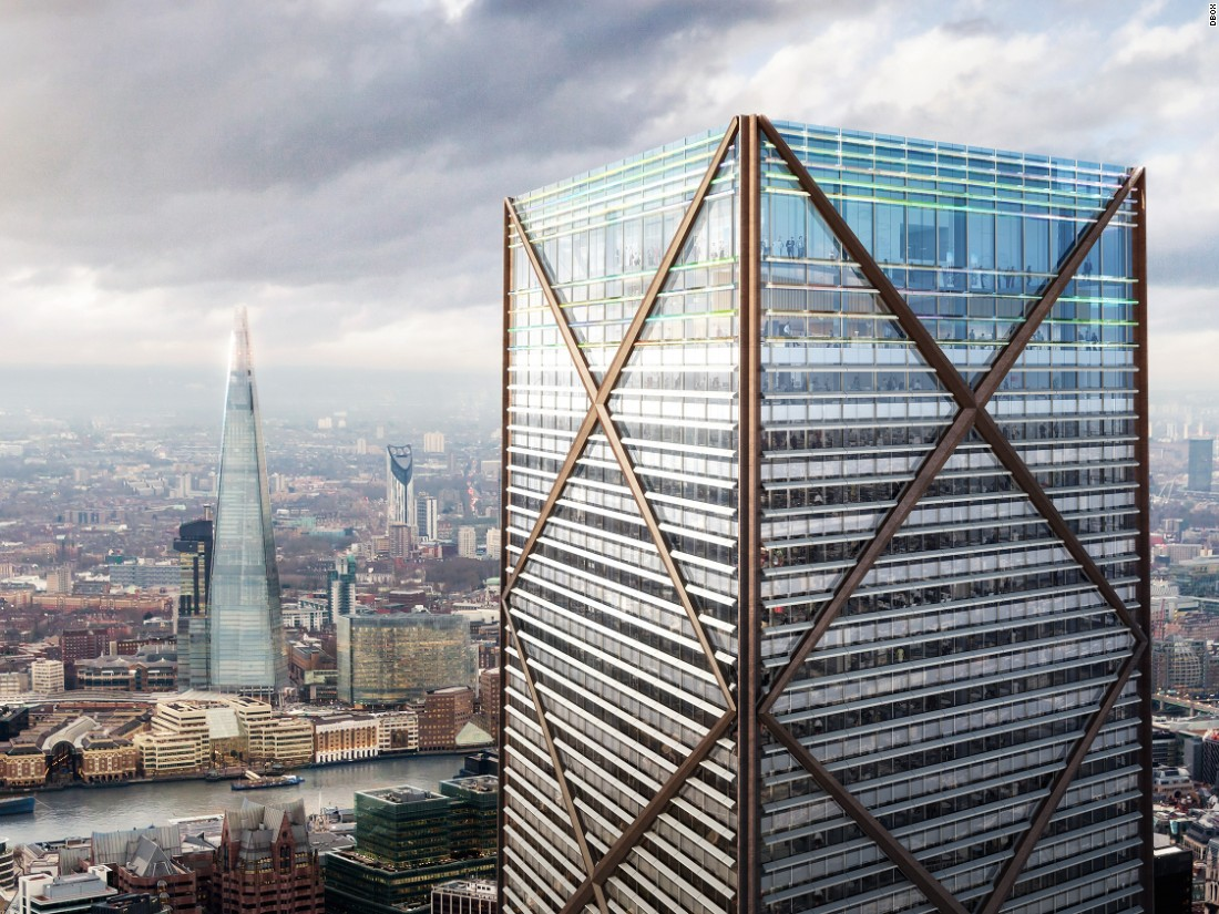 1 Undershaft will sit across the river from London's existing tallest building, The Shard, which sits 309 meters (1,013 feet) above London at its highest point.