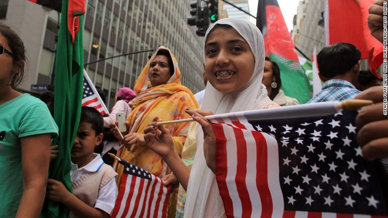 the pew survey showed 9 in 10 american muslims said they were proud to be both - American
