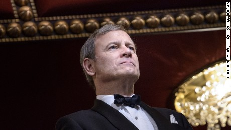 Chief Justice of the US Supreme Court John Roberts listens during the 37th Kennedy Center Honors at the Kennedy Center December 7, 2014 in Washington, DC.