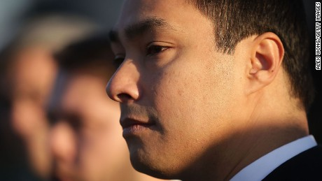 U.S. Rep. Joaquin Castro (D-TX) listens during a news conference in front of the Supreme Court December 8, 2015 in Washington, DC.
