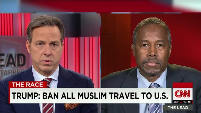 Carson: Trump proposal not constitutional, 'not who we are'