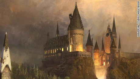 """The Wizarding World of Harry Potter"" at Universal Studios Hollywood - Hogwarts Castle concept rendering"