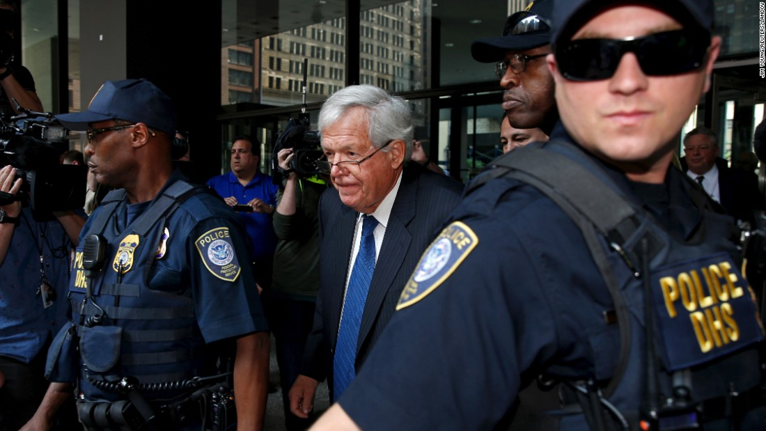 "Former House Speaker Dennis Hastert leaves federal court in Chicago <a href=""http://www.cnn.com/2015/06/09/politics/dennis-hastert-arraignment-appearing-in-court/"" target=""_blank"">after pleading not guilty</a> to all charges against him on Tuesday, June 9. Federal prosecutors say Hastert lied to the FBI about $3.5 million he agreed to pay to an undisclosed person to ""cover up past misconduct."" In October, <a href=""http://www.cnn.com/2015/10/28/politics/dennis-hastert-court-hearing/"" target=""_blank"">Hastert pleaded guilty</a> to hiding money transactions."