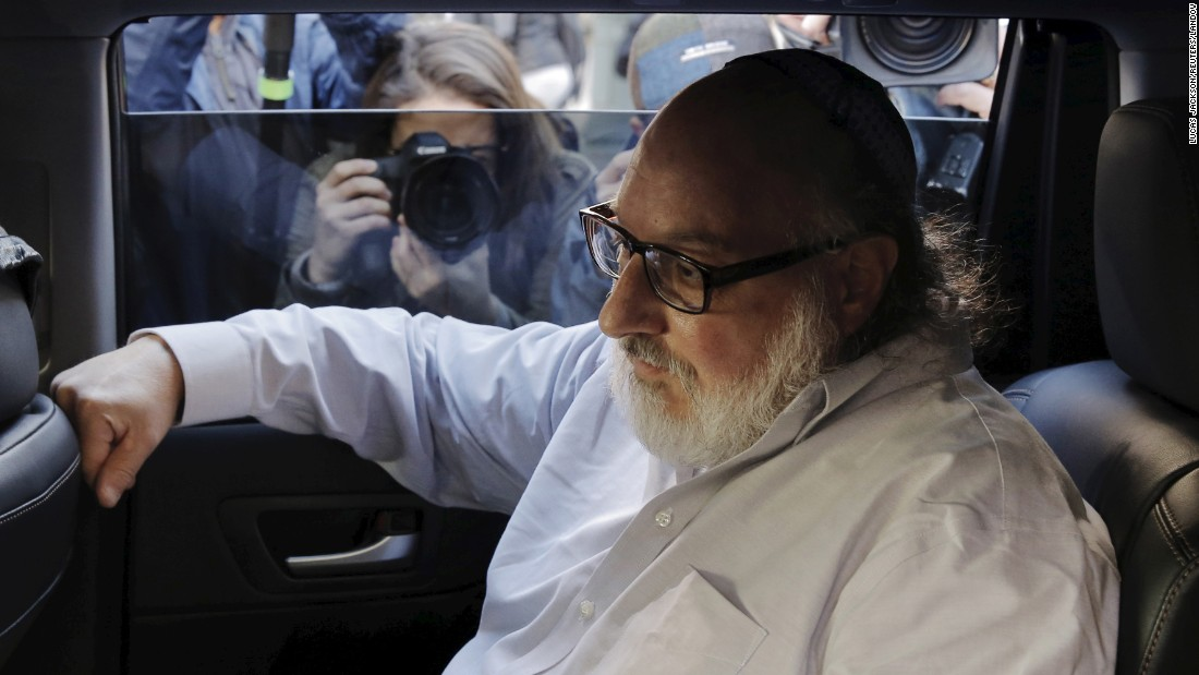 "Israeli spy Jonathan Pollard leaves a courtroom in New York <a href=""http://www.cnn.com/2015/11/20/us/jonathan-pollard-israel-spy-release/"" target=""_blank"">after being released from federal prison</a> on Friday, November 20. Pollard is out on parole after serving 30 years behind bars."