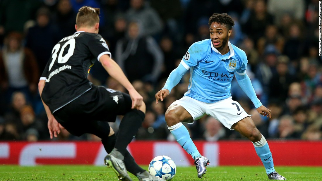 City's options in attack include Raheem Sterling, who joined from Liverpool in July.