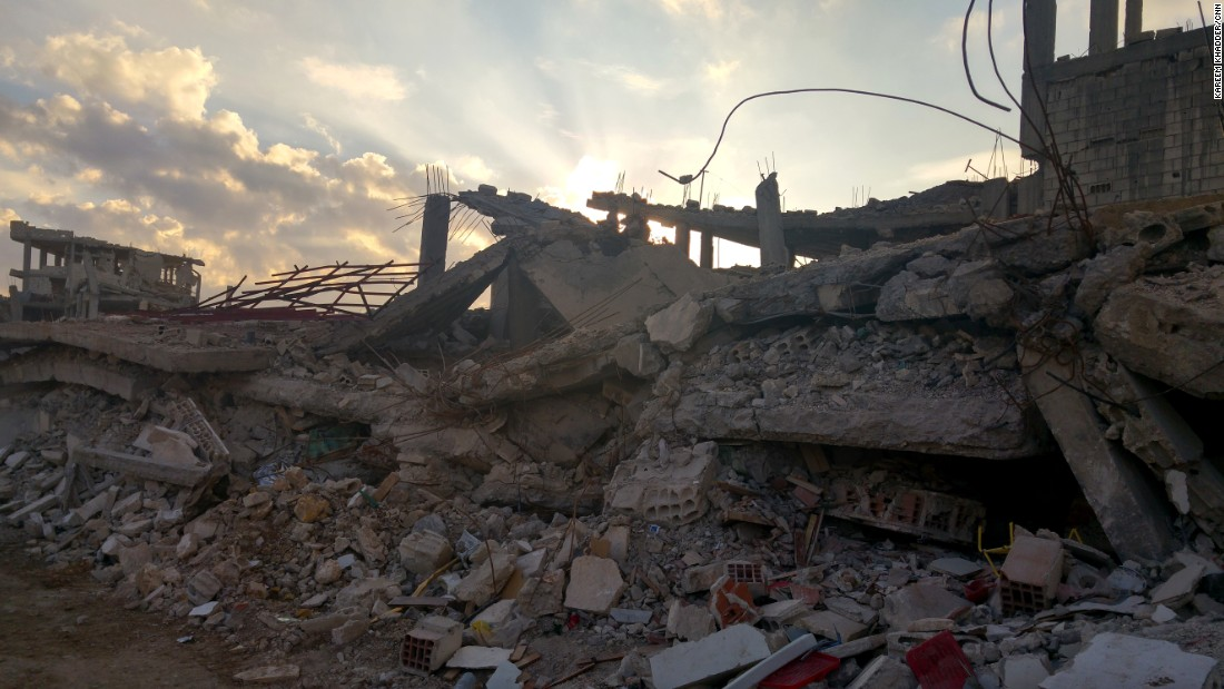 More Kobani ruins. They go on block after block after block.