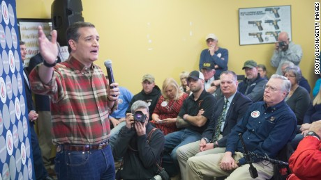 Republican presidential candidate Sen. Ted Cruz (R-TX) speaks to supporters during a campaign event at CrossRoads Shooting Sports gun shop and range on December 4, 2015 in Johnston, Iowa.