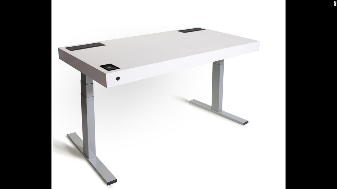 The Kinetic Desk M1 desk has sensors that detect whether you're seated or standing, and shifts slightly up or down (on its own!) to nudge you to change position.