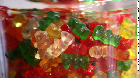 SAN FRANCISCO - APRIL 03:  Gummi Bears are displayed in a glass jar at Sweet Dish candy store April 3, 2009 in San Francisco, California. As the economy continues to struggle, candy sales are rising as Americans seek to comfort themselves during the difficult economic times.  (Photo by Justin Sullivan/Getty Images)