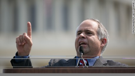 "U.S. Rep. Tim Huelskamp (R-KN) speaks during the ""Exempt America from Obamacare"" rally,  on Capitol Hill, September 10, 2013 in Washington, D.C."