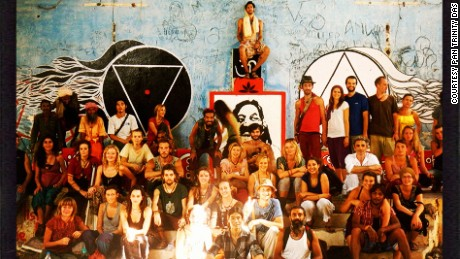 A group of travelers and artists visited the Beatles Ashram in 2012 and created colorful murals around the site.