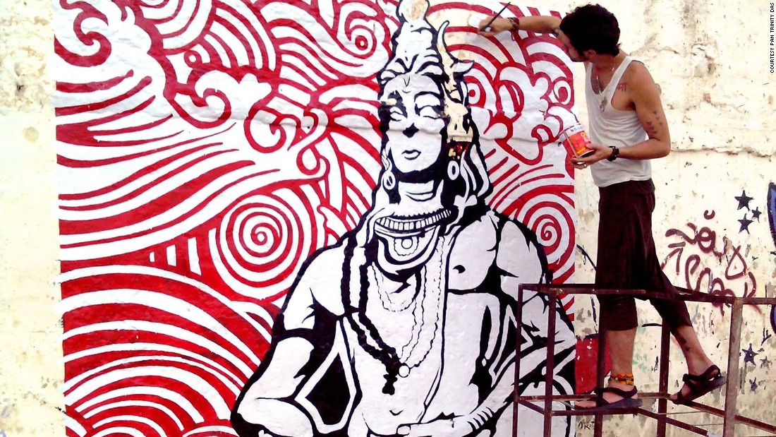 Artist Pan Trinity Das visited Rishikesh and The Beatles Ashram in 2012. He decided to bring beauty back to the ashram with the help of a group of travelers and artists.