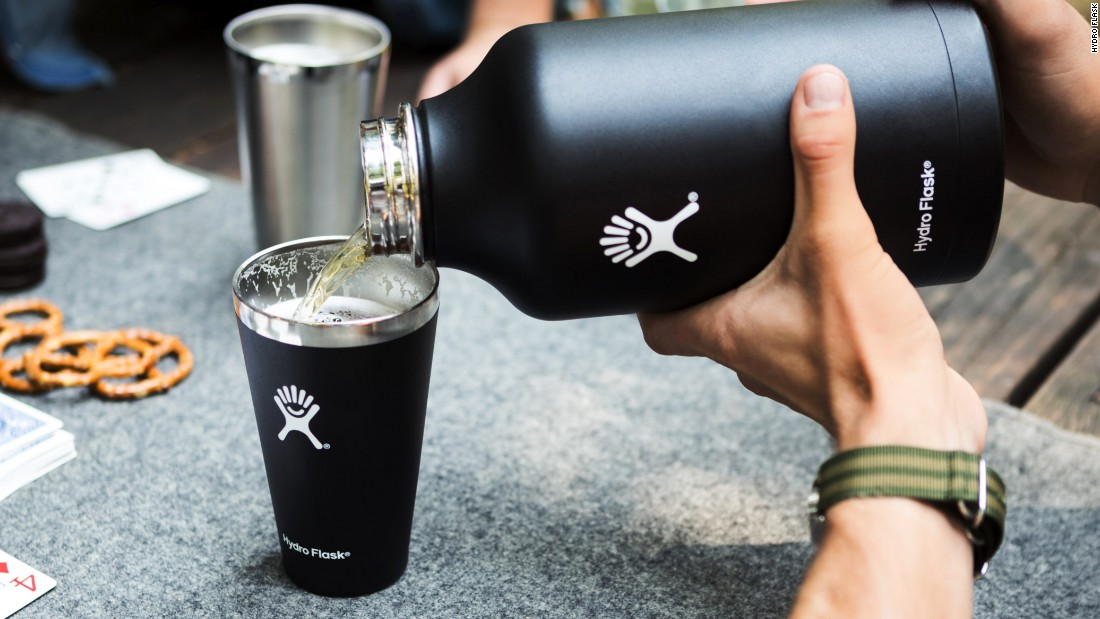This 32-ounce, insulated stainless steel growler is engineered to keep your beer (or any beverage) cold for hours, even on the hottest days. Pair it with the Hydro Flask pint glass for seamless and stylish drinking.