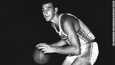 Dolph Schayes of the Syracuse Nationals poses for a portrait circa 1961.