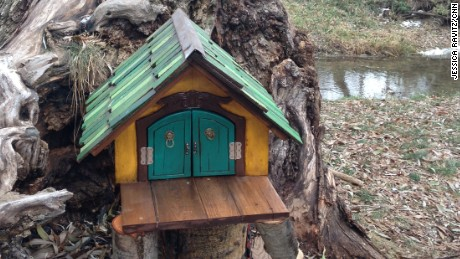 In October, this fairy house sprung up along a trail in Lehi, Utah.
