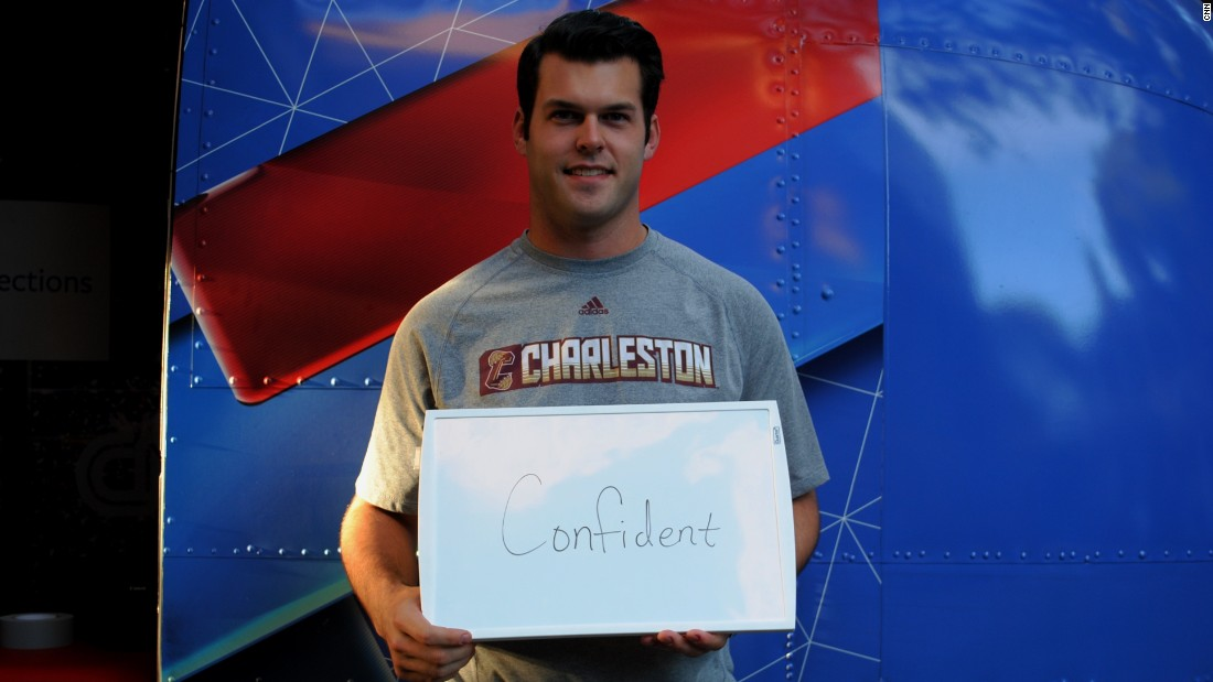 "College of Charleston student Clay Koch is feeling ""confident"" about 2016."