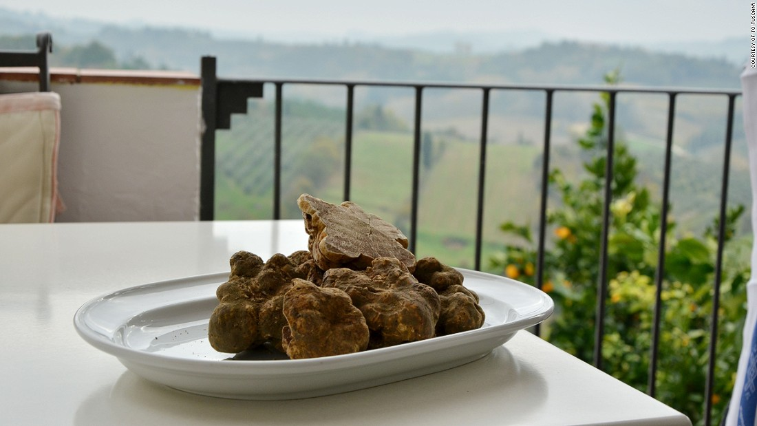 There are 63 varieties of truffle worldwide, but the most prized is the Italian white truffle, which is in season from October to late December or early January.