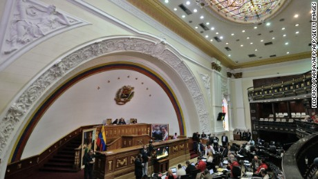 Overview of the National Assembly in Caracas on December 10, 2015. AFP PHOTO/FEDERICO PARRA / AFP / FEDERICO PARRA        (Photo credit should read FEDERICO PARRA/AFP/Getty Images)