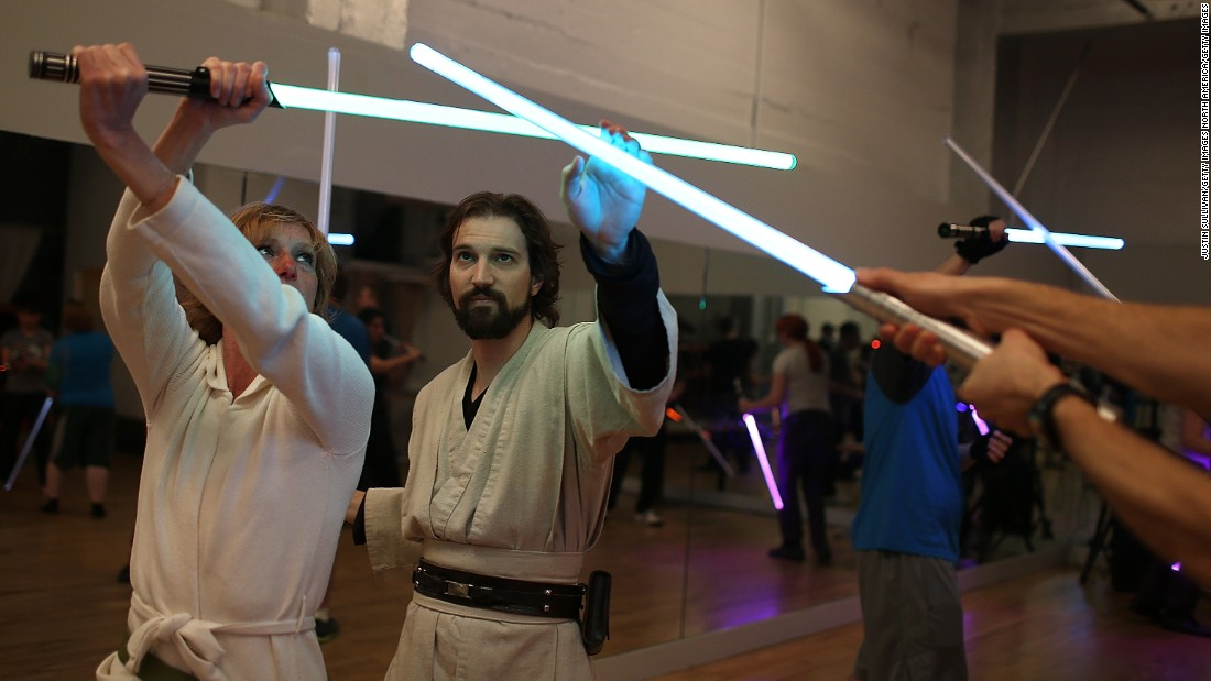 Star Wars fans Alain Bloch and Matthew Carauddo founded the Golden Gate Knights in 2011 to teach classes on how to safely wield a lightsaber and perform choreographed moves.
