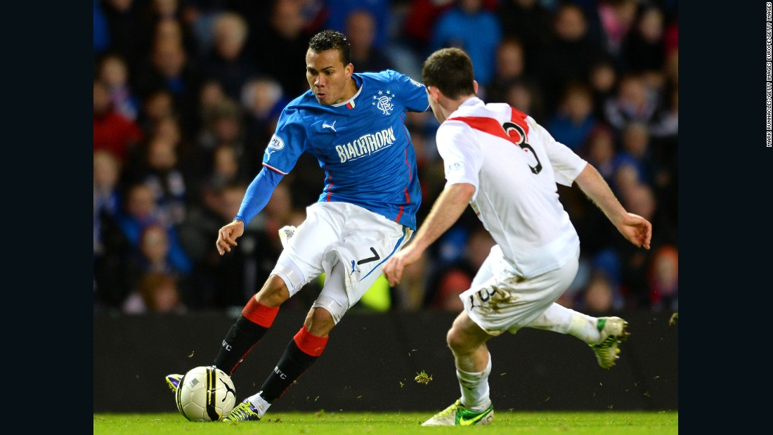 "The defensive midfielder played over 20 times for Scottish club Rangers during an 18 month spell and helped it win the League One title in 2014. The club said it was ""deeply shocked and saddened"" to learn of his death."