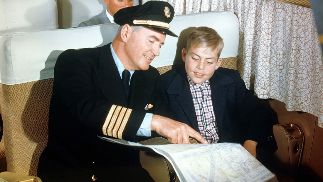 Many children were members of young fliers clubs which provided them with log books to record their travels. Pilots would sometimes stop to chat to youngsters -- hopefully to inspire them into careers in aviation and not to ask for directions.