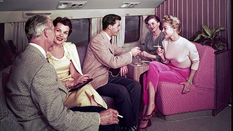 Flying on fumes: Planes used to be smokers' paradises.