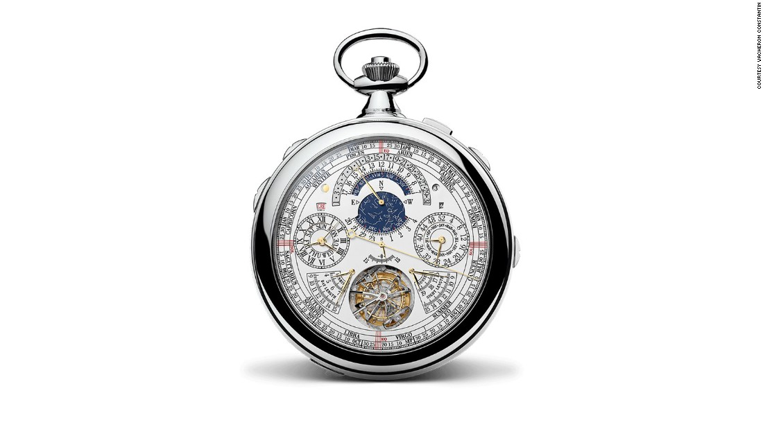 "Marketed as ""most complicated watch ever made,"" the Reference 57260 by Vacheron Constantin is a pocket watch that was released in celebration of the company's 270 year anniversary. The watch took eight years in research, development and prototyping."